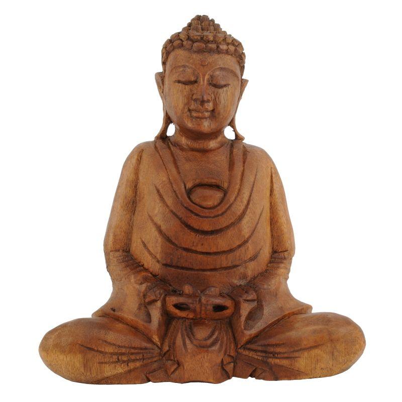 Soška Buddha dřevo 20 cm tm Dhyan   SoNo spol. s r.o.