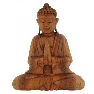 Soška Buddha dřevo 20 cm tm Namaskara
