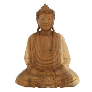 Soška Buddha dřevo 25 cm sv Dhyan