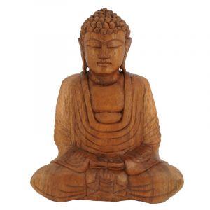 Soška Buddha dřevo 25 cm tm Dhyan