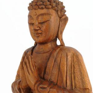 Soška Buddha dřevo 25 cm tm Namaskara | SoNo spol. s r.o.