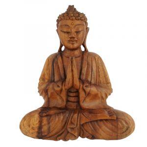 Soška Buddha dřevo 25 cm tm Namaskara