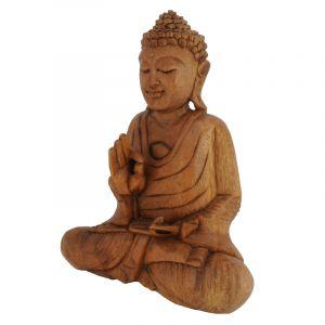 Soška Buddha dřevo 25 cm tm Vitarka | SoNo spol. s r.o.