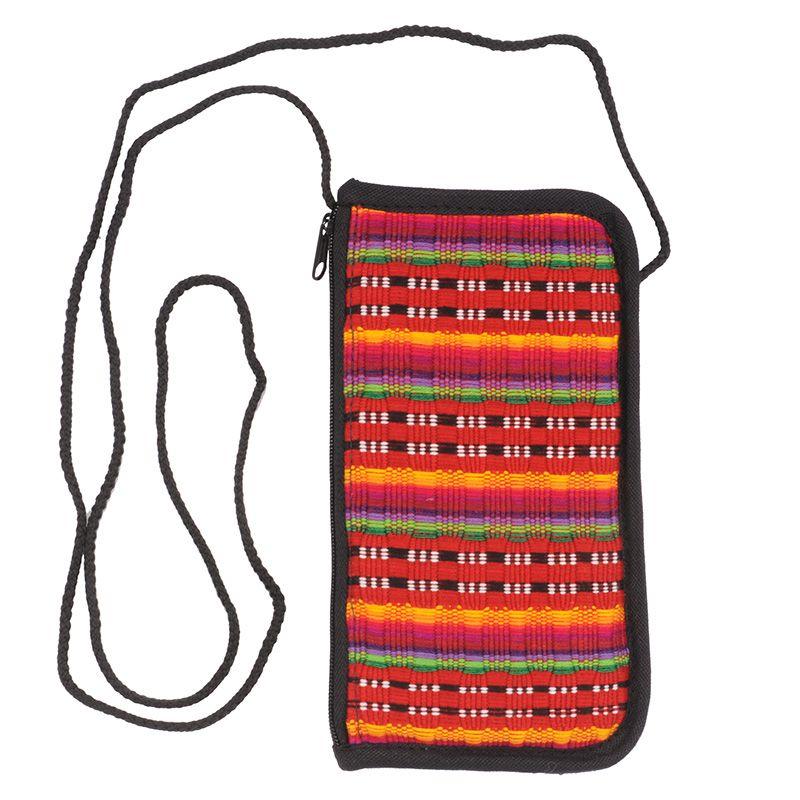 Bavlněná kapsa na krk tkaná, pouzdro na mobil 18 x 10 cm L