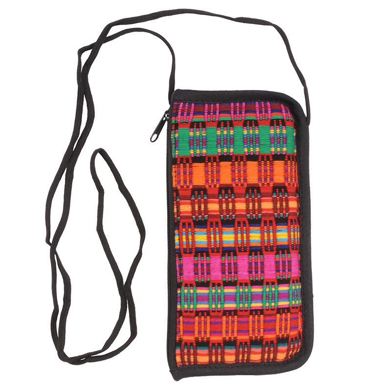 Bavlněná kapsa na krk tkaná, pouzdro na mobil 18 x 10 cm R