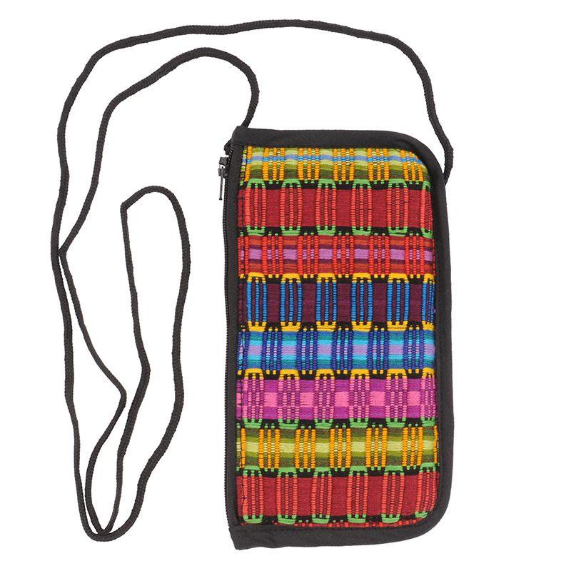 Bavlněná kapsa na krk tkaná, pouzdro na mobil 18 x 10 cm S