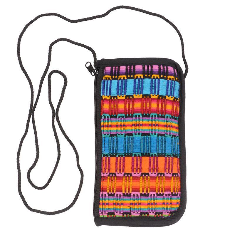 Bavlněná kapsa na krk tkaná, pouzdro na mobil 18 x 10 cm J