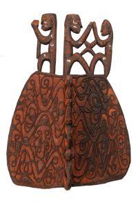 Štít Asmat dřevořezba 68 cm