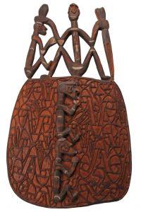 Štít Asmat dřevořezba 88 cm