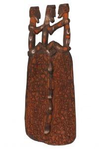 Štít Asmat dřevořezba 72 cm