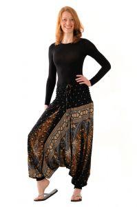 Kalhoty Aladin / Sultánky černé