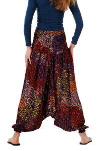 Kalhoty turecké harémové Aladin červené tmavé | SoNo spol. s r.o.