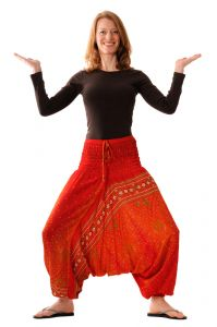 Kalhoty Aladin / Sultánky červené