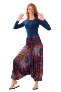 Kalhoty Aladin fialové