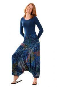 Kalhoty Aladin / Sultánky modré tyrkysové
