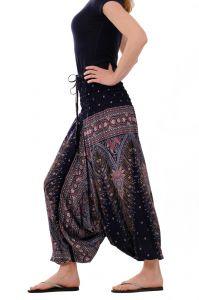 Kalhoty turecké harémové Aladin modré tmavé | SoNo spol. s r.o.