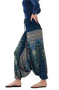 Kalhoty turecké harémové Aladin zelené tmavé | SoNo spol. s r.o.