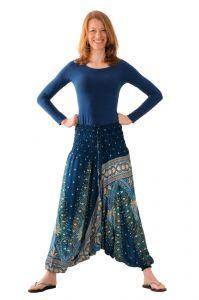 Kalhoty Aladin / Sultánky zelené tmavé