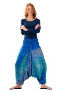 Kalhoty Aladinky / Sultánky tyrkysové