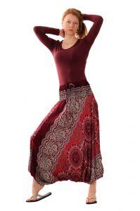 Kalhoty Aladin vínově červené