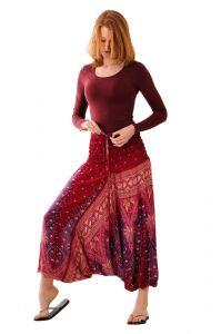 Kalhoty Aladin vínové