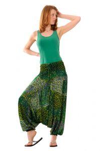 Kalhoty Aladin / Sultánky zelené