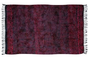 Šátek sarong Déšť černo-fialový
