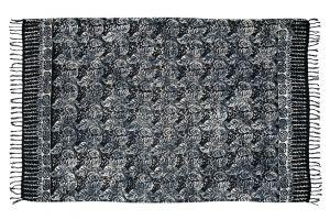 Šátek sarong Floral paisley černý