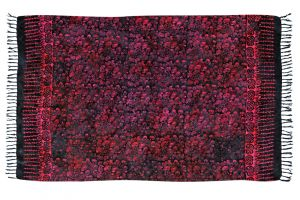 Šátek sarong Kolibřík černo-fialový