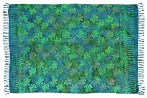 Sarong Listy zelený