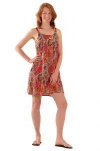 Šaty BOB Batik Dona na ramínka Paisley červené
