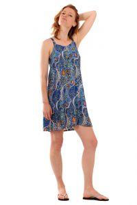 Šaty BOB Batik Dona na ramínka Paisley modré