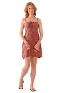 Šaty BOB Batik Tali na ramínka Paisley fialovo-růžové