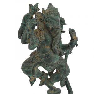 Soška Ganesh kov 26 cm kobra zelená | SoNo spol. s r.o.