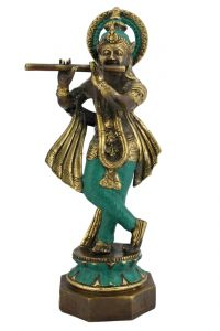 Soška Krishna s flétnou kov 30 cm | SoNo spol. s r.o.