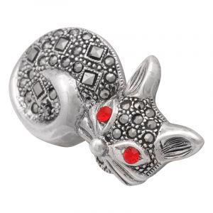 Stříbrná brož Kočka Ag 7,5 g markazit