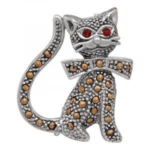 Stříbrná brož Kočka Ag 8,0 g