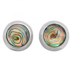 Stříbrné náušnice paua perleť Ag 4,0 g