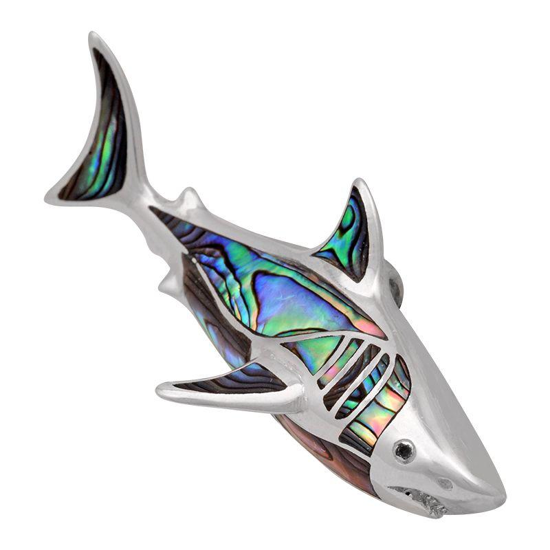 Stříbrný přívěsek s perletí paua Ag 13,1 g žralok | SoNo spol. s r.o.