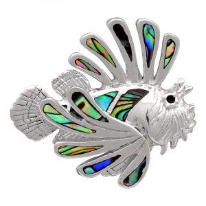 Stříbrný přívěsek s perletí paua Ag 5,6 g ryba | SoNo spol. s r.o.