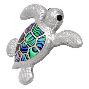 Stříbrný přívěsek paua Ag 7,9 g želva