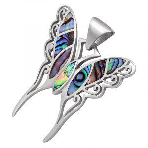 Stříbrný přívěsek paua Ag 8,5 g motýl