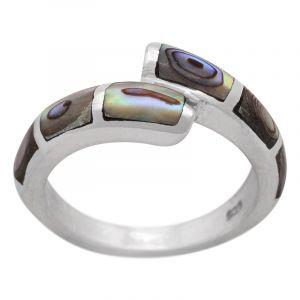 Stříbrný prsten paua Ag 4,8 g II