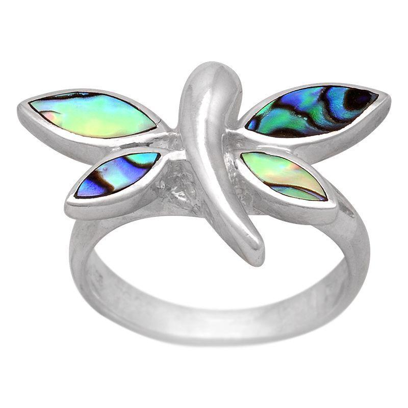 Stříbrný prsten s perletí paua Ag 5,2 g motýl | SoNo spol. s r.o.