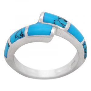 Stříbrný prsten tyrkys Ag 4,8 g