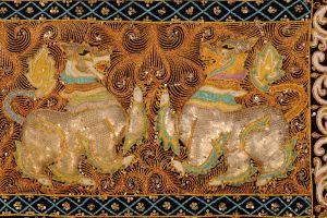 Kalaga Singha. Lev. Detail. Dva lvi.