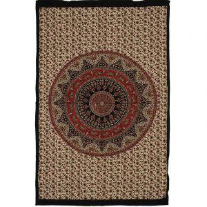 Přehoz Mandala Star červeně béžový 205 x 130 cm