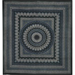 Přehoz Moghul India béžovo modrý 230 x 210 cm
