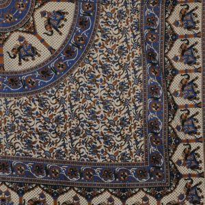 BOB Batik indický přehoz na postel Mandala Karavana béžovo modrý 210 x 200 cm bavlna. King size. Dvoulůžko. | SoNo spol. s r.o.