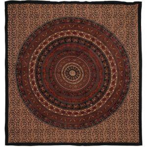Přehoz Mandala Karavana červený 220 x 205 cm